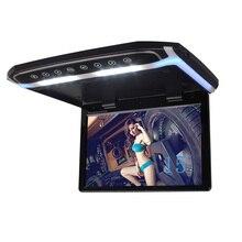 15.6 Pulgadas TFT LCD de Coches Reproductor de Montaje En Techo Monitor Flip Techo de Monitor 1920*1080 Coche con dos de entrada de vídeo del coche styling