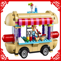 LEPIN 01007 Friends Amusement Park Hot Dog Van Building Block Compatible Legoe 249Pcs DIY Educational Toys