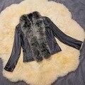 Plus size 3XL Women Winter Fake Fur coat female Vintage Artificial Black Faux Fox Furchaquetas Casacos Big Size manteau fourrure