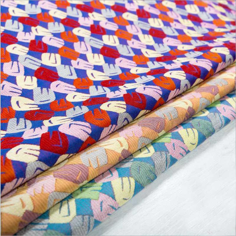 HLQON poliestere top grade filato tinto broccato jacquard fresco tessuto di stile per le donne del vestito panni del tessuto patchwork vestito di pantaloni