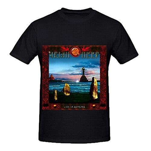 Gildan Uriah Heep Live In Armenia R&B Album Cover Mens Crew Neck 100 Cotton Shirts