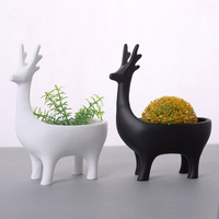 Creative abstract deer Home Garden Planters Flower Pots Cute deer desktop flower pot storage box
