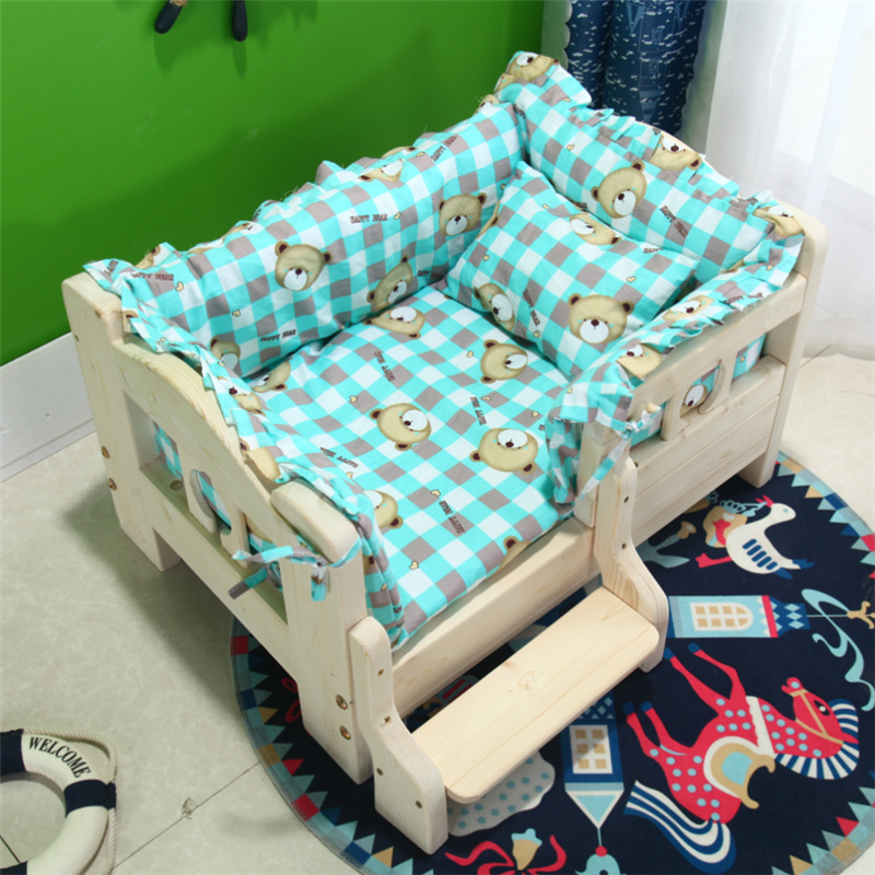 Kennel Bed Pet Bed Teddy Golden Retriever Doghouse Indoor Cat Bed Size Doghouse Four Seasons Universal