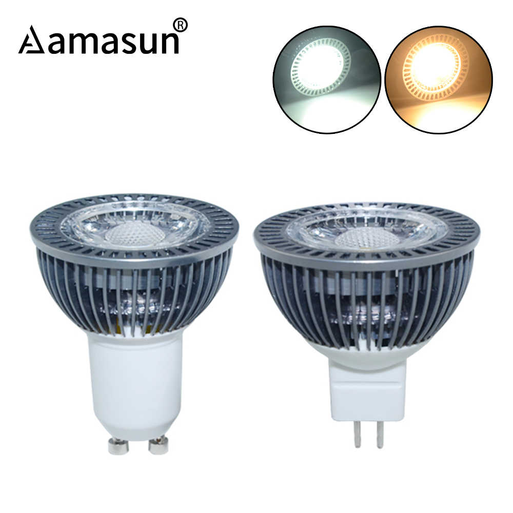 COB LED GU10 LED Bulb 85-265V MR16 LED 12V 24V 7W Real Power Aluminum Heat Dissipation Spotlight Bombillas Ampoule Home Lighting