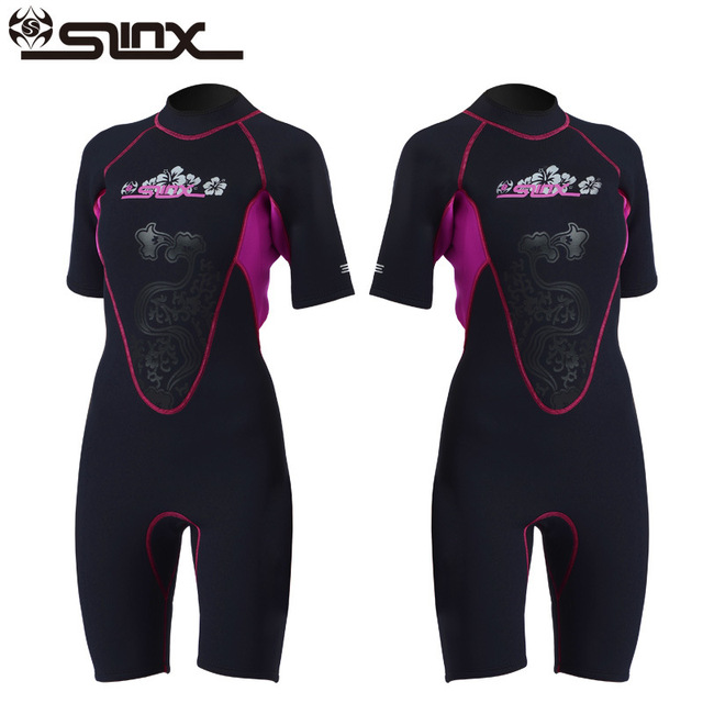 d4ae0d83a95a Slinx shorty wetsuit women short sleeve 3mm neoprene wetsuits for Waterski  Snorkel Surf diving sailing kayak