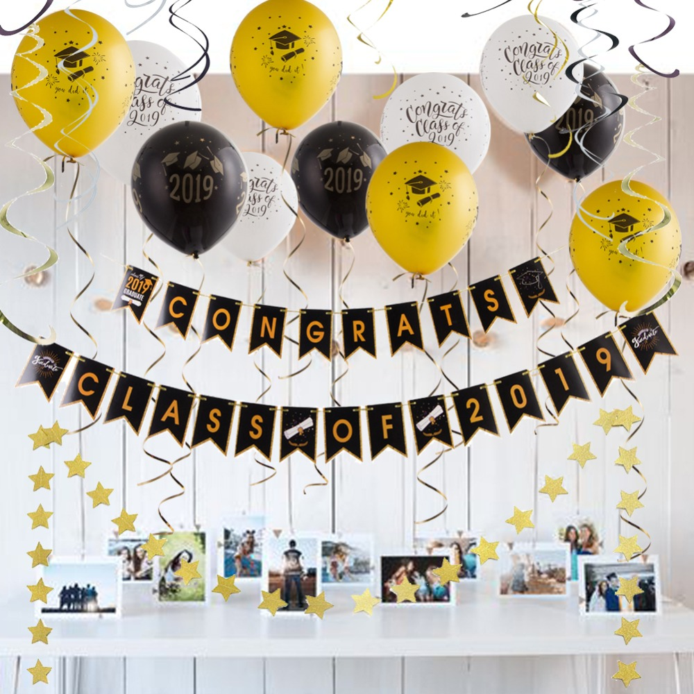 "Birthday Balloons Decorations Happy Party Kit Rose Gold Confetti 71pcs Swirl /"""