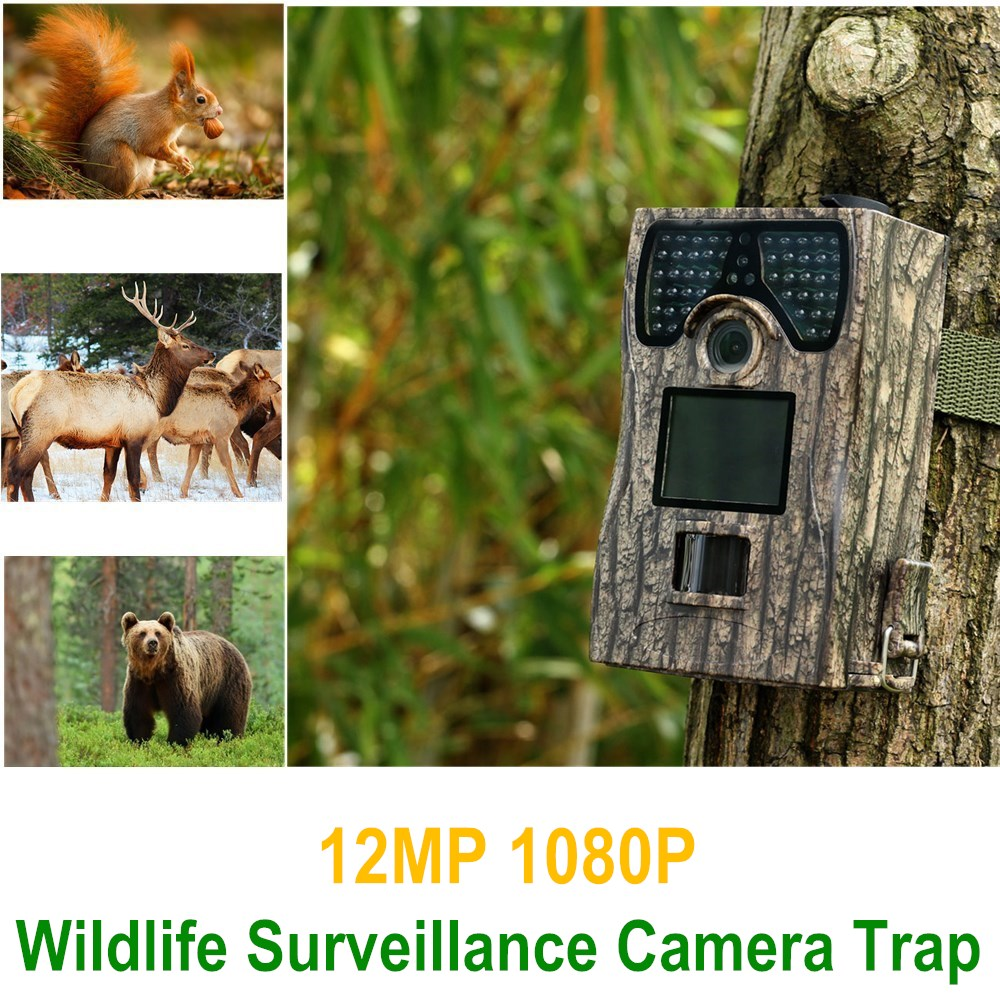 Home Surveillance 12MP Wildlife Camera Trap Trail Night Vision Infrared Motion Detection HD 1080P Trap Trail Camera for hunter hunting camera 940nm 12mp photo traps infrared night vision motion detection outdoor wildlife trail cameras trap no lcd screen