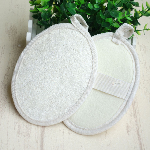 1pc nature loofah sponge soft band strip massage brush skin body bathing washing exfoliating accessories 1