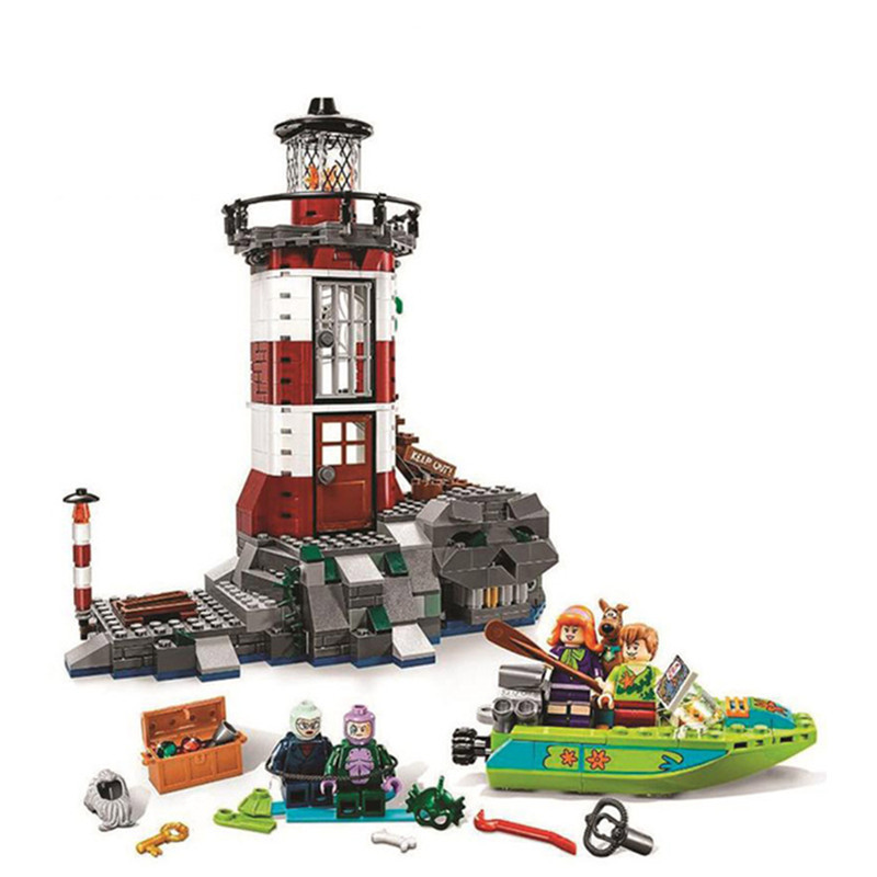 BELA Model Compatible playmobil 75903 Scooby Doo Haunted Lighthouse Building Blocks bricks Figures Educational Toys For Children pogo bela 10430 scooby doo mystery machine scooby doo building blocks bricks toys compatible legoe