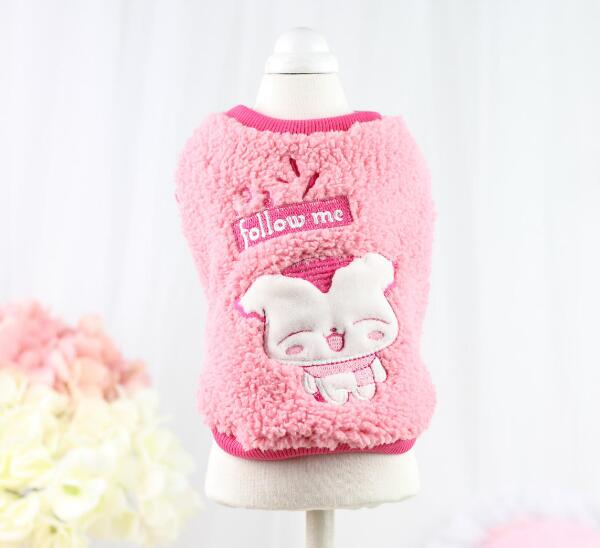 1pcs dogs cats fashion autumn winter hoodies doggy lovely cartoon vest apparel puppy warm soft sweaters pets suit XS-XL