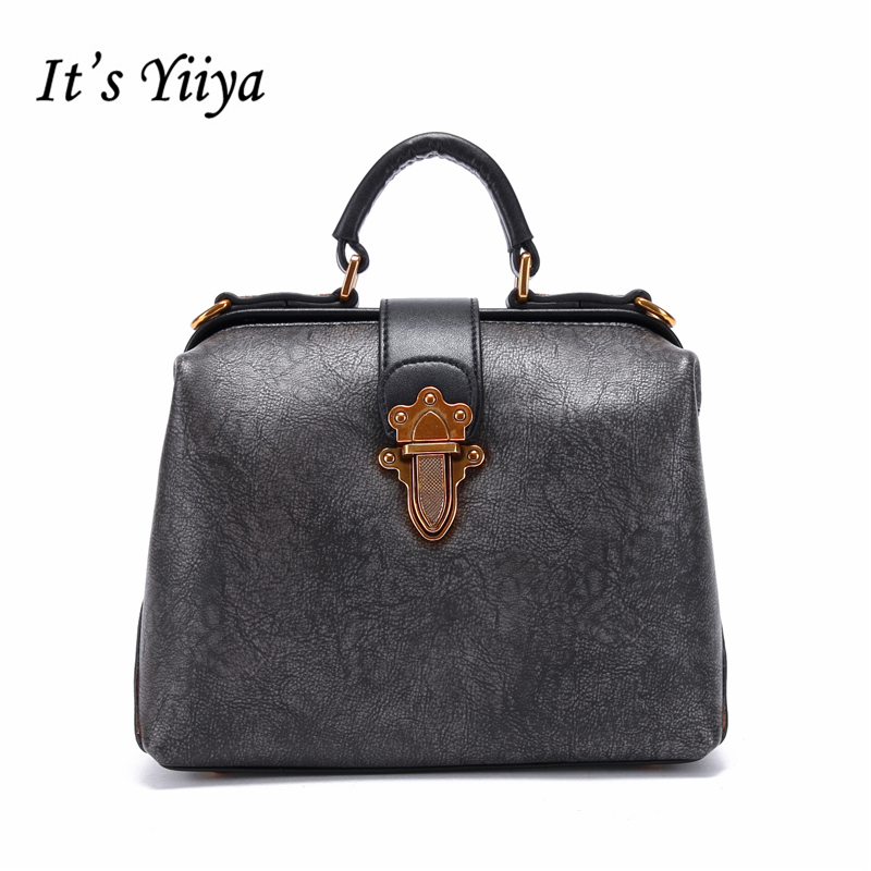 It's YiiYa Sales 3 Colors Women Genuine Leather HandBag Fashion Casual Vintage Lady Style Girls Bag Messenger Bags SS1203