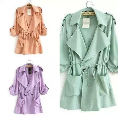 Moda 2016 primavera Otoño elegante Doble Botonadura capa de foso para las mujeres abrigos largos Ocasionales marca rompevientos capa femenina