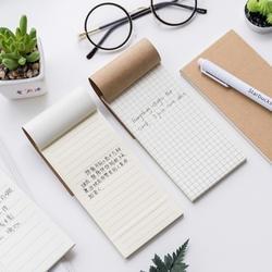Крафт-обложка бумага Блокнот горизонтальная пустая сетка страница планировщик блокнот для списка студентов повестка дня Расписание Книга