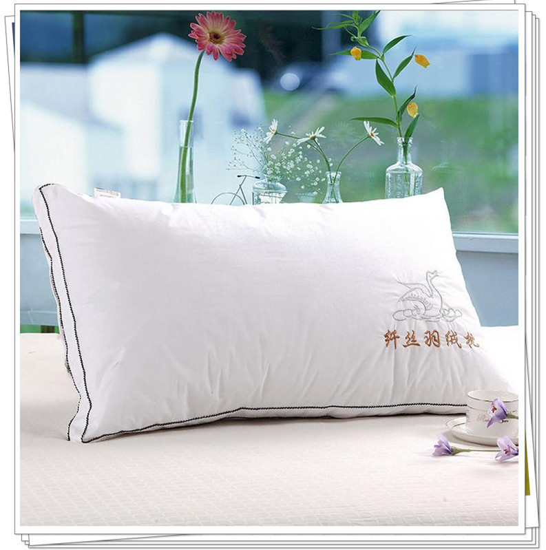 1 piece health care bed feather pillow cotton cervical pillow with pillow
