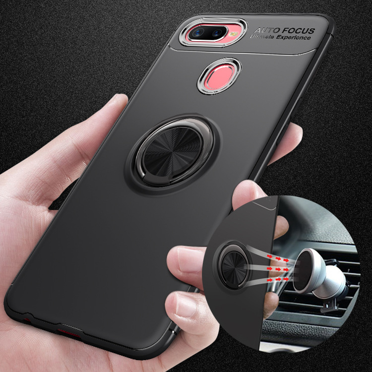 360 Rotating Finger Ring Full Back Cover For Oppo F9 Fundas Capa Magnetic Car Holder Soft Case For Oppo F9 Pro Cases