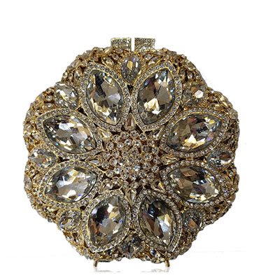 gold Crystal Evening Party Metal Clutches Purse For Women Handbag Bridal Wedding Box Clutch Bag Chain Prom Shoulder Bag red gold silver clear crystal diamond women evening bag metal clutches bag wedding party bridal clutch purse chain shoulder handbags
