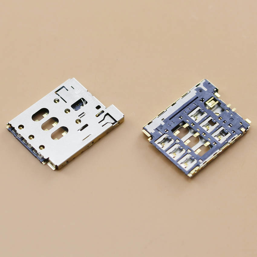 YuXi Good Quality Sim Reader Connector Card Slots Part For HTC Desire 816/D816d/D816n/D816w Dual SIM New In Stock +Tracking - intl