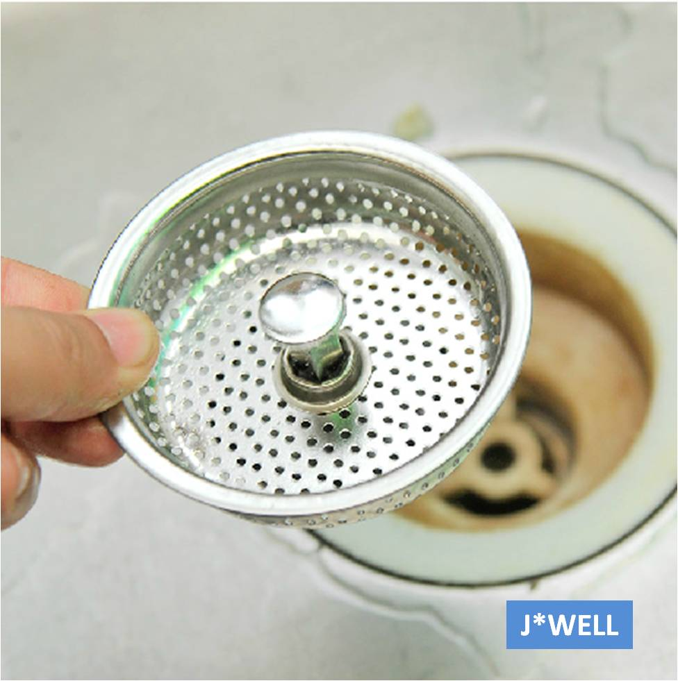 Brief Mesh Stainless Steel Kitchen Bathroom Sink Strainer