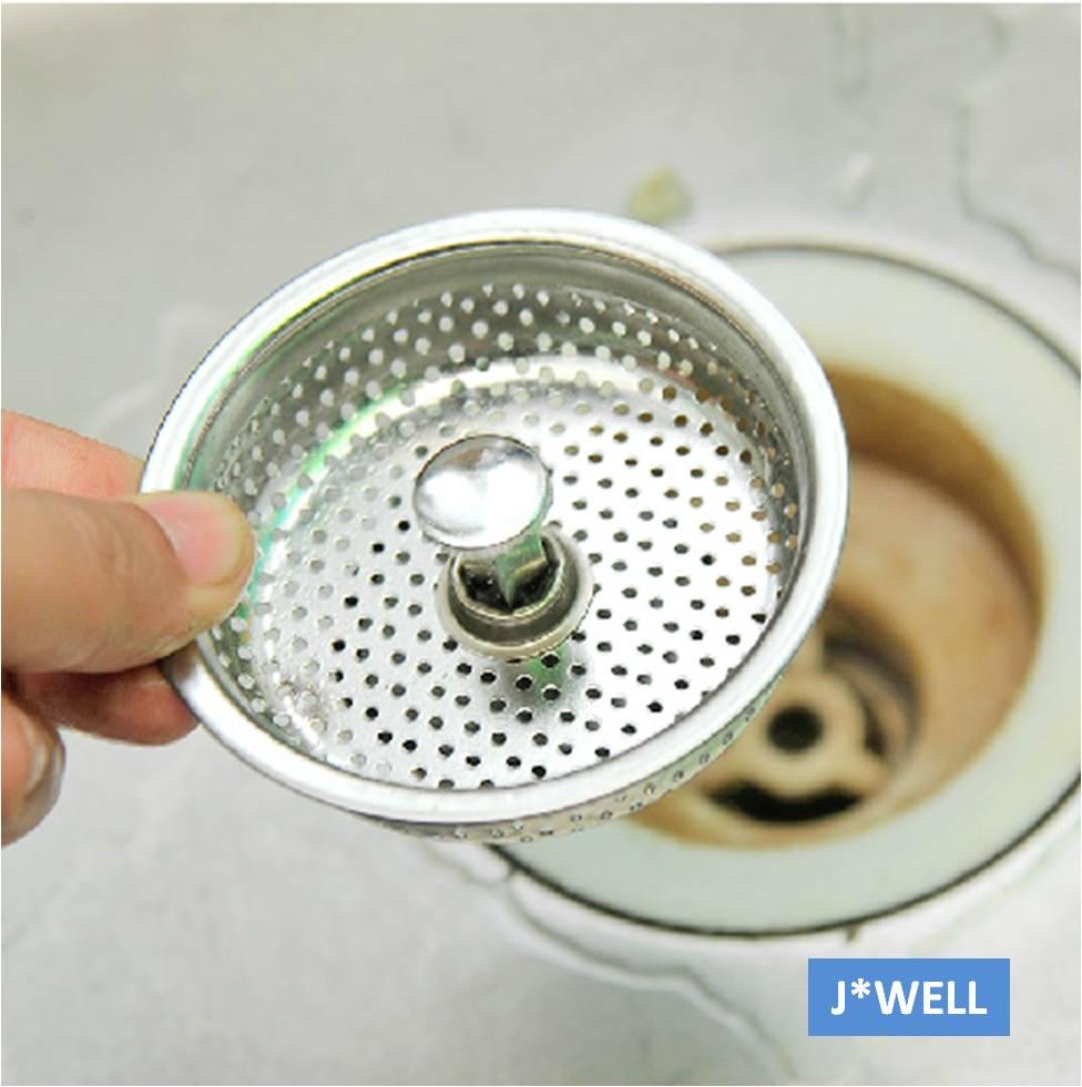 Kitchen Sink Basket Strainer Stationary Islands Brief Mesh Stainless Steel Bathroom ...