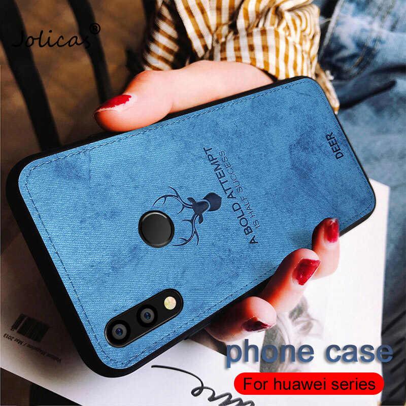 Hươu Nổi Trường Hợp Đối Với Huawei P Thông Minh 2019 Người Bạn Đời 20 Lite P20 Pro Nova 3 3i Honor 8X Max 8 9 lite 10 7A 7C Vải Mềm Cover Quay Lại