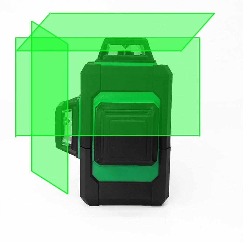 XEAST 12 lignes 3D Vert Laser Niveaux Auto Nivellement 360 Horizontale un Vertical Croix Super Puissant Laser Vert Faisceau Ligne