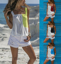 Summer Women Casual Tank Top Lady Female Low-cut Sleeveless Tops Loose Cotton Cami  S-XXL