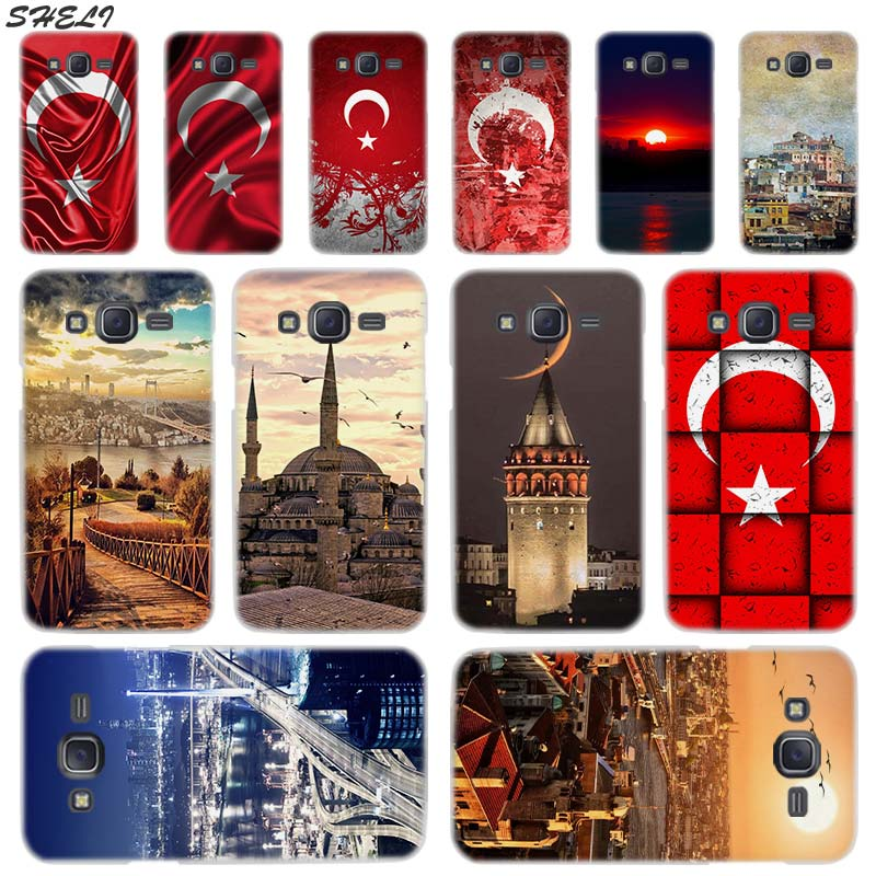 Sheli Flag Turkey <font><b>Istanbul</b></font> Transparent Hard Phone Case for Samsung J1 J2 J3 J4 J5 J6 J7 J8 2015 2016 2017 2018 J7 Prime Plus image