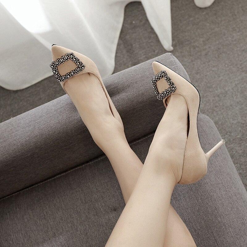 Размеры 3443 пикантные Для женщин высокий тонкий каблук лакированная выходные женские туфли лодочки обувь Женская обувь на каблуке туфли лодочки со стразами женские туфли на высоком каблуке купить на AliExpress