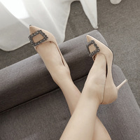 Size 34 43 Sexy Women Thin High Heels Patent Women Pumps Party Shoes Zapatos Mujer Tacon Pumps Diamond High Heels Ladies Shoes