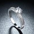 Round CZ Wedding classic Engagement Rings Rhinestones For Women Platinum Plated Fashion Jewelry Female Ring Bijoux Wholesale