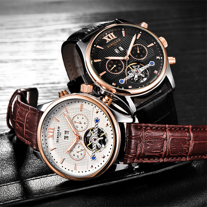 BINSSAW Merk Heren Horloges Automatisch mechanisch horloge Tourbillon - Herenhorloges - Foto 2