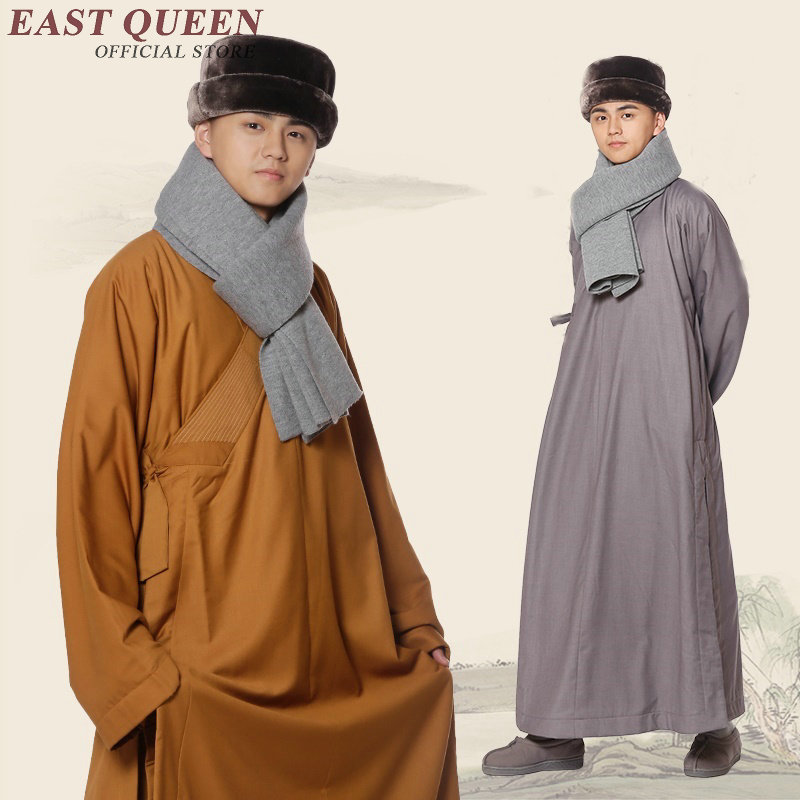 New Arrivals buddhist monk clothing men monk costume solid color shaolin monk robe large size 3xl 4xl 5xl 6xl AA2929 YQ