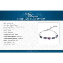 JewelryPalace Natural Mystic Rainbow Topaz Bracelet Tennis Link Genuine 925 Sterling Silver Women 2017 New Fashion Fine Jewelry