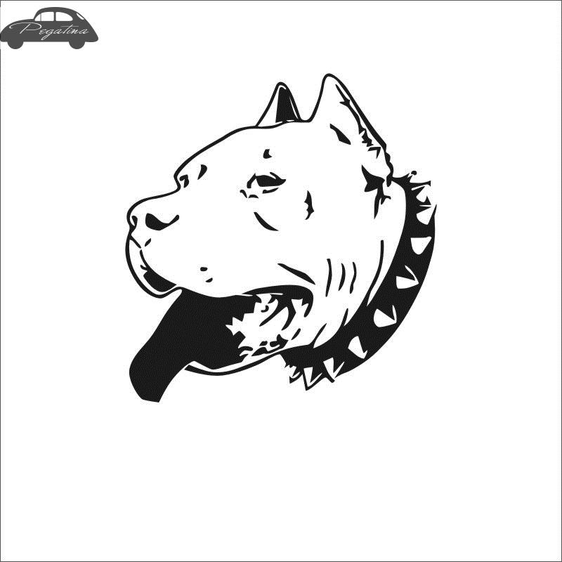 Pegatina Car Pit Bull Dog Sticker Pet Shop Decal Posters Vinyl Wall Art Decals Quadro Parede Decor Mural Pet Shop Sticker