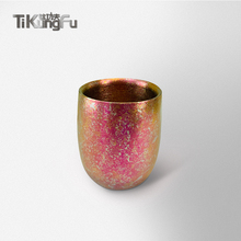 Pure Titanium Double-wall Tumbler Japanese Gift Rose Vacuum Water Cup Beer Coffee Tea Sake Tikungfu Hot Sale Free Shipping