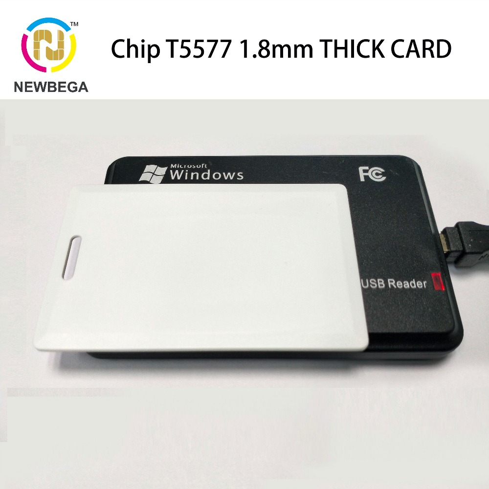 Thick RFID Card 1.8mm T5577/EM4305/EM4100 LF Chip  ABS Proximity Blank Read And Write 125KHz Clamshell NFC Tag Card Protection