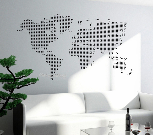 Newest style world map wall decals art vinyl stickers for living newest style world map wall decals art vinyl stickers for living room wallpapers sofa background bedroom gumiabroncs Choice Image