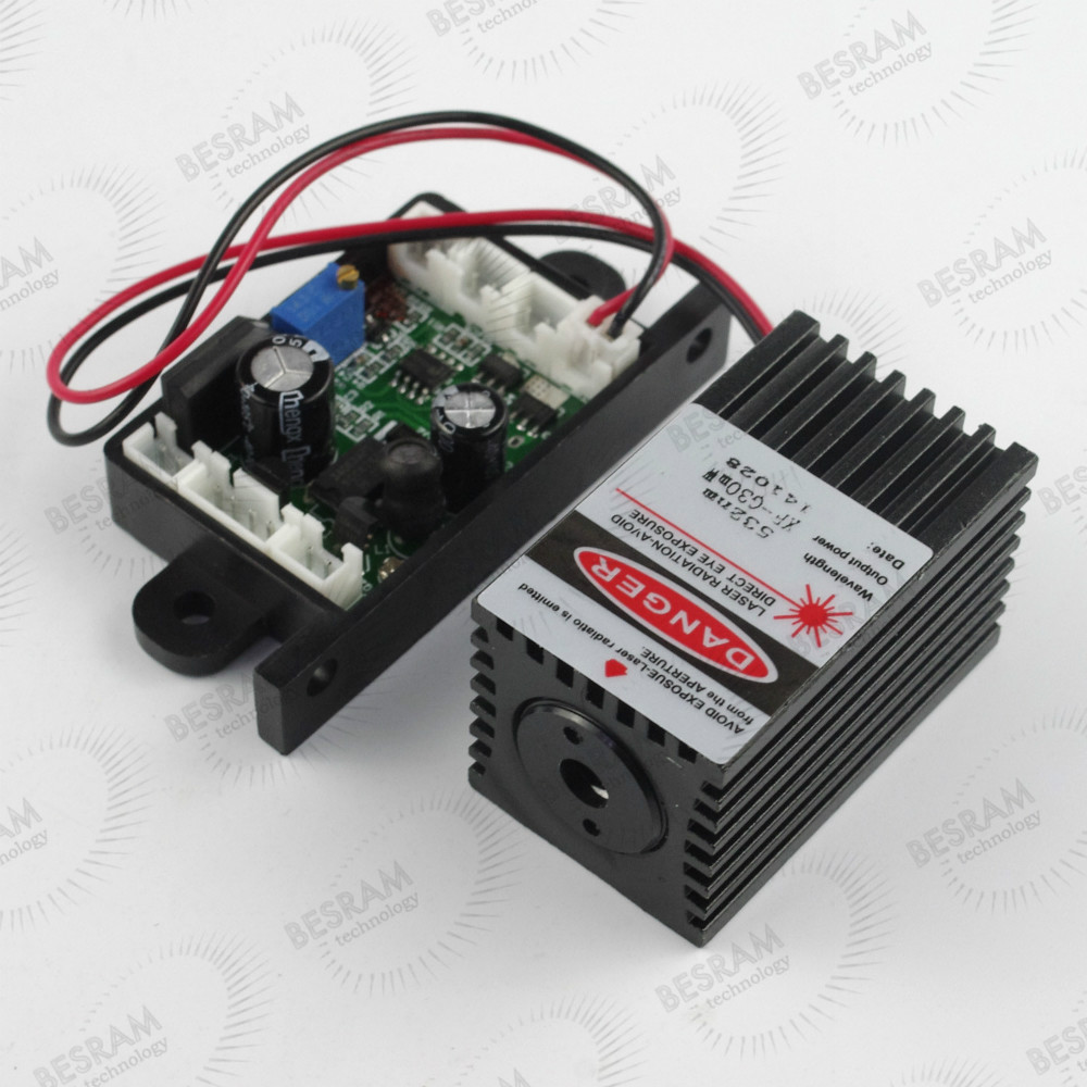532nm 30-50mW Green Dot Laser Module Diode DC/AC 12V Stage Lighting TTL 0-5V gy 26 digital compass sensor module green dc 3 5v