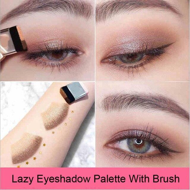 Double Color Lazy Eye Shadow Makeup Palette Glitter Palette Eyeshadow Pallete Waterproof Glitter Eyeshadow Shimmer Cosmetics 1