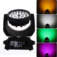 36*18W colorful led wash zoom moving head rgbwa+uv 6in1 dj lights for nightclub wedding event