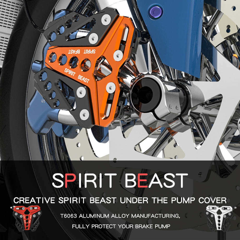 SPIRIT BEAST Motorcycles Accessories Motor Protection Scooter Decorative Front Disc Brake Pump Cover Protector pitbike Motocross