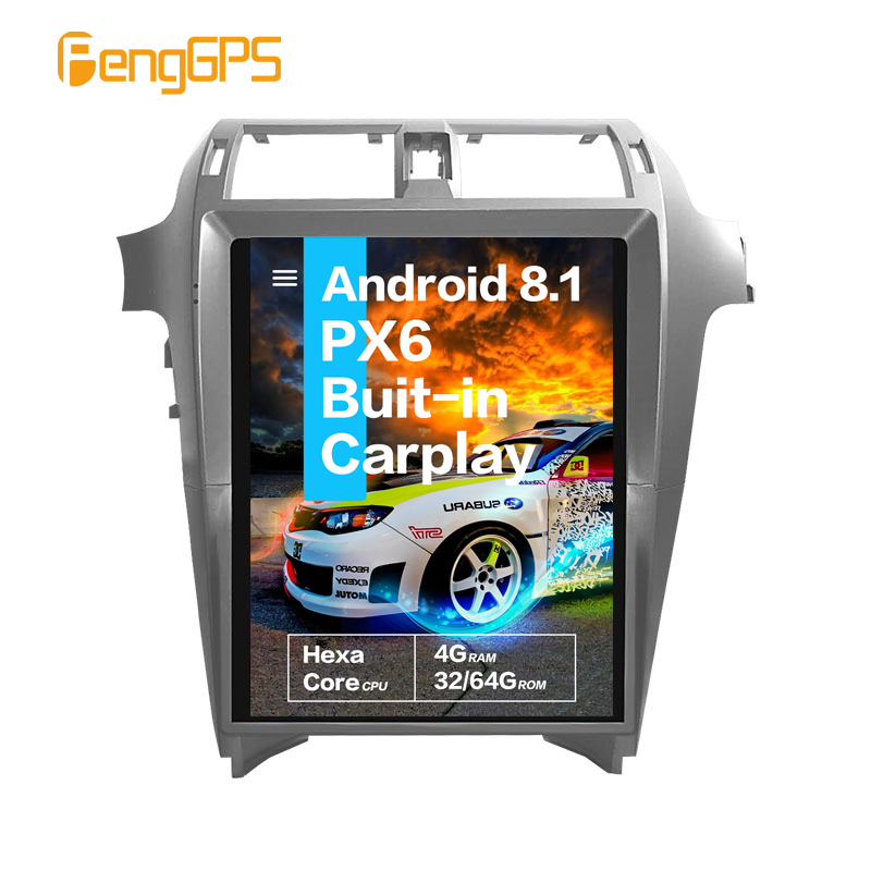 15''Tesla Screen Android 8.1 PX6 Built-in CARPLAY Car Radio For Lexus GX400 GX460 2010 + Car Multimedia Player GPS Navigation