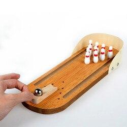 الإبداعي الكبار للأطفال ألعاب تعليمية خشبية مصغرة البولينج لعب الألعاب المكتبية الترفيه التفاعلي
