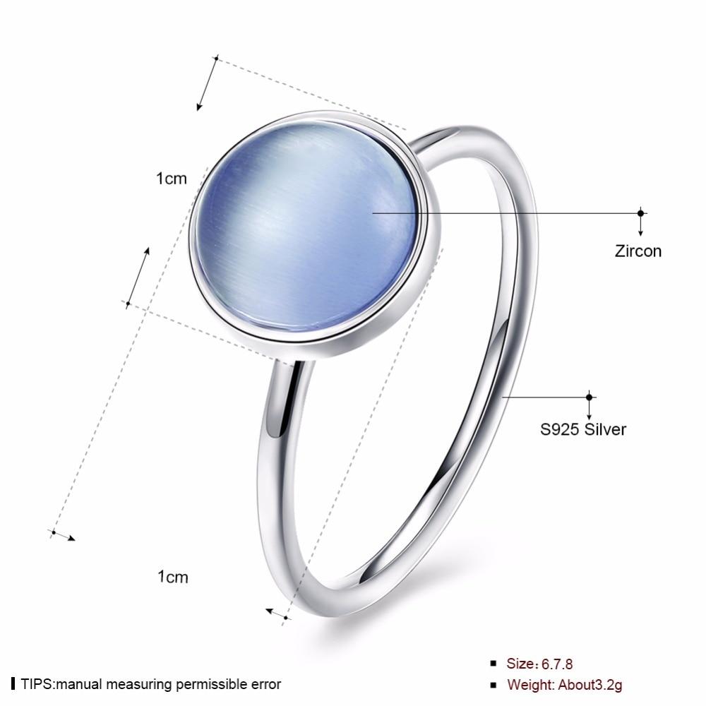 INALIS Classic Trendy Design S925 anillo de plata esterlina con luz - Joyas - foto 6