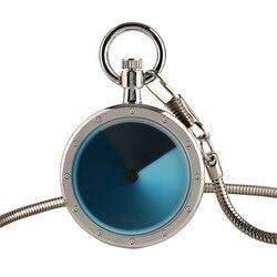 Новые дизайнерские синие поворотные стильные маленькие кварцевые карманные часы с серебряной цепочкой в виде змеи, мужские, женские, детск...