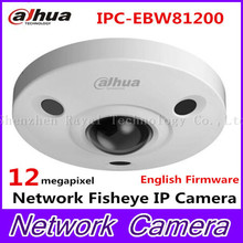 Original Duhua IPC-EBW81200 12MP POE Network Fisheye IR Camera support H264 Security CCTV Dome camera HD Vandal-proof IP Camera