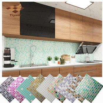 Αυτοκόλλητα αδιάβροχα 3d Ψηφιδωτά τοίχου, πλακιδίων, κουζίνας ,μπάνιου, όμορφη διακόσμηση wall vinyl