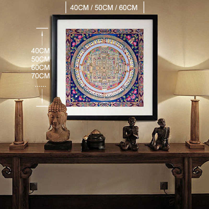 Tibetan Buddhist Culture Painting Art Picture Print Thangka Oil Canvas Painting Art Design Poster Frame Not Include Painting Art