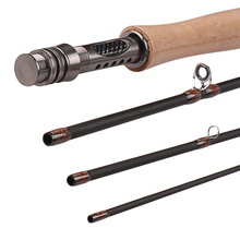 Fly Fishing Rod 3/4 5/6# 4 Segments 2.4m 2.7m Medium Fast Action Carbon Fiber Fishing Rods Wooden Handle Pole Olta Pesca Stick