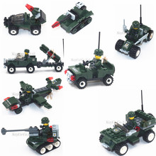 2016 New 1pcs/set Army Series Ambulance Car Building Blocks Brick Toys for Boys Girls Children Kids Compatible with lepin